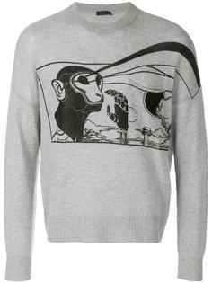 свитер с принтом Prada
