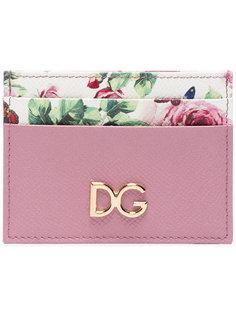 визитница с логотипом и цветочным принтом Dolce & Gabbana