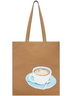 сумка-тоут с принтом логотипа Fendi