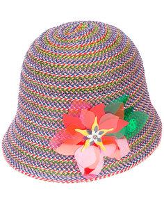 шляпа Jin с декором из цветов Maison Michel