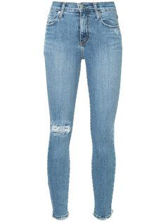 укороченные джинсы скинни с эффектом потертости Nobody Denim