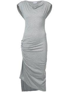 платье без рукавов с драпировками Paco Rabanne