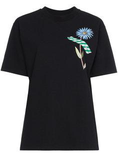 футболка с цветочным принтом Woman Off-White