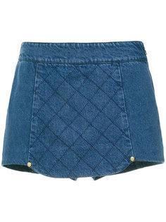 quilted denim short skirt Andrea Bogosian