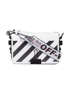 сумка через плечо Clip в диагональную полоску Off-White