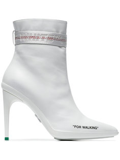 White For Walkin 100 High Heel Boots Off-White