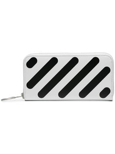 medium Leather wallet with diagonal stripes Off-White