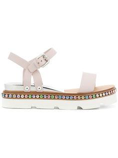 сандалии с украшением из кристаллов Casadei