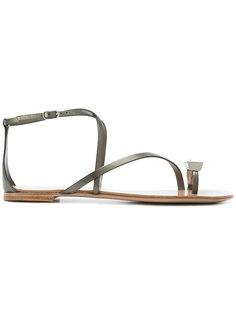 декорированные сандалии Casadei