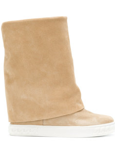 fold down wedge boots Casadei