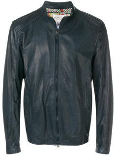 короткая кожаная куртка Etro