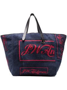 сумка-тоут с логотипом  JW Anderson