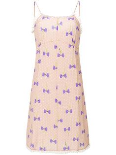 платье с принтом бантов Miu Miu