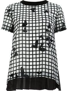 футболка в сетку с узором Sacai