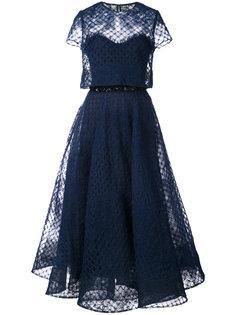многослойное платье из тюля  Marchesa Notte