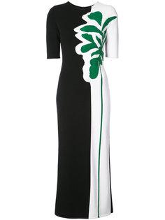 приталенное платье с узором интарсия  Oscar de la Renta
