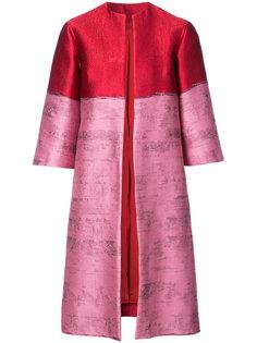 расклешенное открытое пальто  Oscar de la Renta