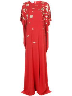 платье шифт с отделкой  Oscar de la Renta