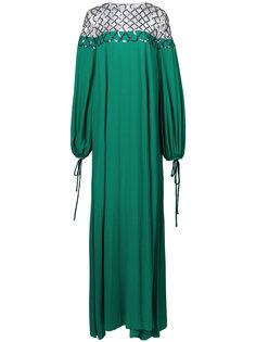 платье шифт с вышивкой  Oscar de la Renta