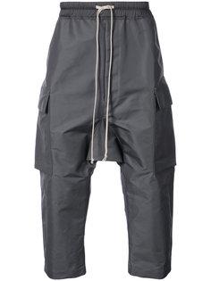укороченные брюки-карго на завязках Rick Owens