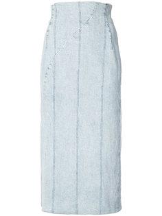 джинсовая юбка с высокой талией Adam Lippes