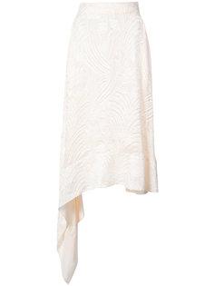 асимметричная юбка миди Adam Lippes