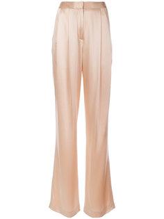расклешенные брюки со складками Adam Lippes