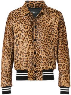 куртка-бомбер с леопардовым рисунком Amiri