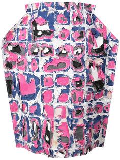 юбка с фактурным узором Comme Des Garçons