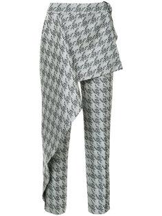 парчовые брюки West End в ломаную клетку Bianca Spender