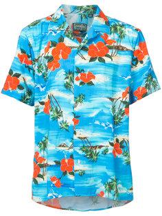 рубашка с рисунком на тему океана Gitman Vintage