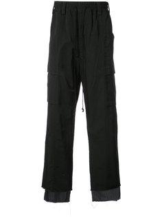 брюки с двухслойным дизайном Song For The Mute