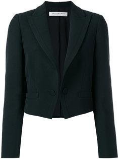 укороченный пиджак с заостренными лацканами  Philosophy Di Lorenzo Serafini