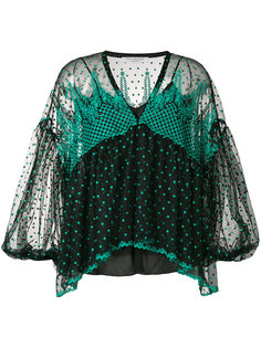 блузка с вышивкой и рукавами клеш  Philosophy Di Lorenzo Serafini