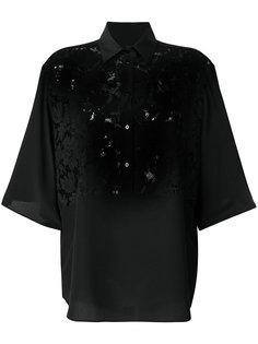 блузка с кружевными панелями Valentino