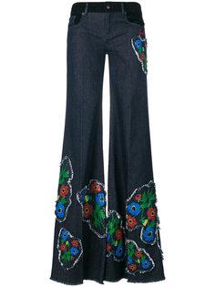 широкие джинсы с нашивками Sonia Rykiel