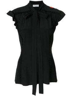 блузка с вышитыми цветами Sonia Rykiel