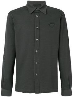 рубашка с нашивкой логотипа Prada