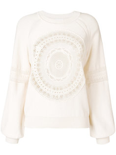 кружевной свитер  Chloé