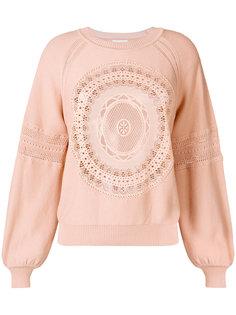 кружевной свитер с рукавами клеш  Chloé
