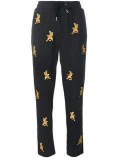 спортивные брюки с вышивкой  Zoe Karssen