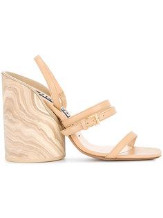 босоножки на деревянном каблуке Jacquemus