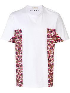футболка с контрастными панелями Marni