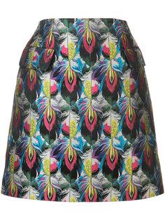 юбка Clovis с жаккардовым узором из перьев Mary Katrantzou