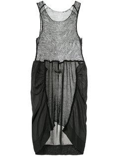 вязаное платье с панельным дизайном Uma Wang