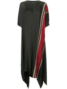 платье свободного кроя с полосками Uma Wang