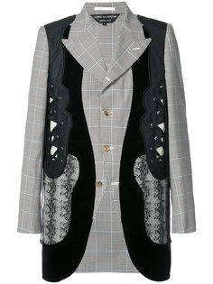пиджак строгого кроя с контрастными панелями Comme Des Garçons Homme Plus