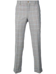 клетчатые брюки прямого кроя Comme Des Garçons Homme Plus