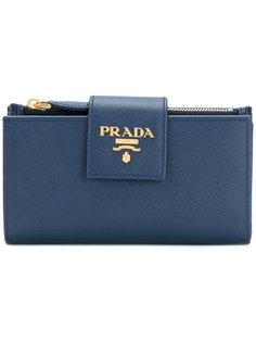 logo plaque wallet Prada