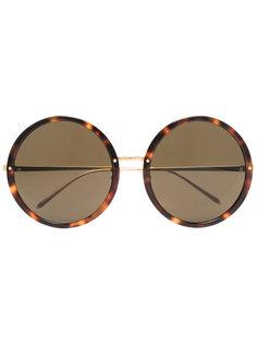 солнцезащитные очки 457 C1 в круглой оправе Linda Farrow